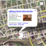 Map to Jefferson Terrace